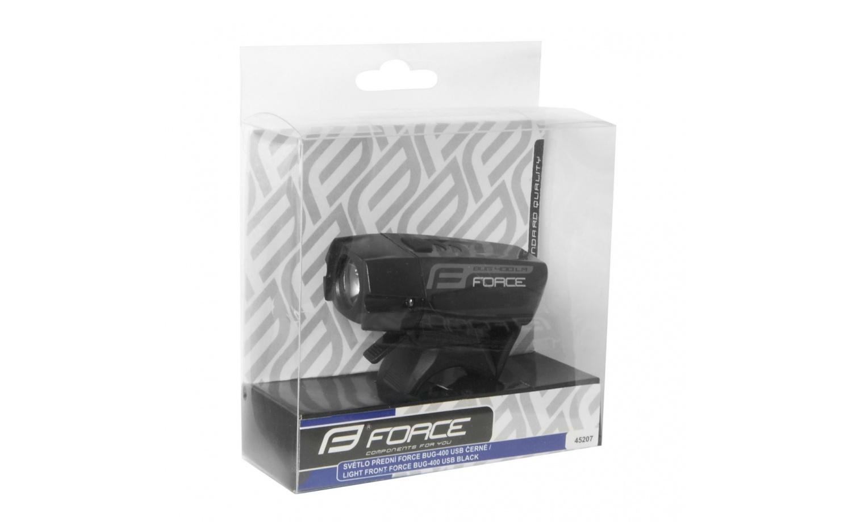 Front light FORCE BUG 400LM USB black